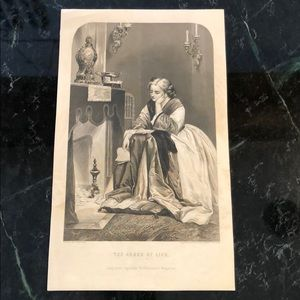 "The Ashes of Life - 9"" x 5.5"" - Antique Engraving"
